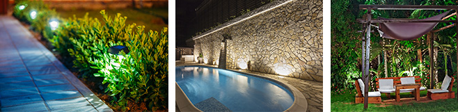 Garden and pool lighting solutions Brisbane - C.J Trent